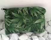 Reefer Camo Pillow Pouch /Hemp Zipper Bag