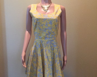 Yellow and Gray Casual Dress