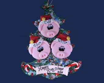 Pig (3) ornament Family tree
