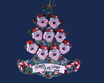 Pig (9) ornament Family tree