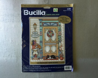 Bucilla Counted Cross Stitch Kit Welcome to Our Home