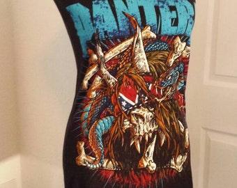 Ladies PANTERA heavy metal band shirt mini dress