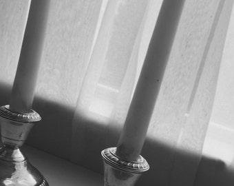 Sterling Silver Candle Holders / Candlesticks Vintage