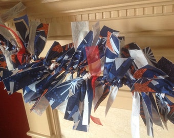 Red white and blue patriotic indoor outdoor garland
