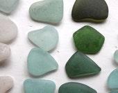 sea glass jewelry quality sea foam aquamarine green aqua beach seaglass jewellery supplies art&craft supply vintage beads necklace (321)
