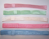 Shimmering Elastic Headbands/Soft Stretch Elastic/Interchangable/Dotted/ Fold Over Elastic