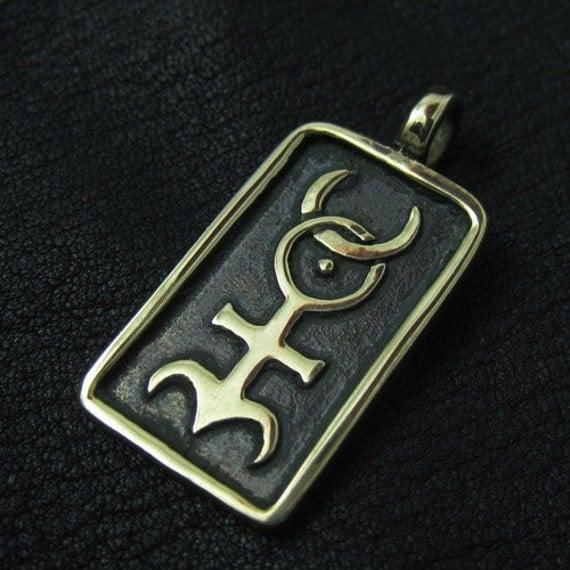 Bronze Monas Hieroglyphica pendant