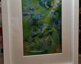 Lilly- resin abstract art