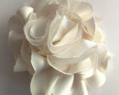 Baby/Girls Ivory Satin Flower w/ Headband