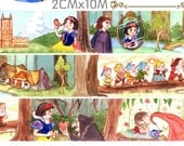 1 Roll of Limited Edition Washi Tape:  Snow white and the Seven Dwarfs