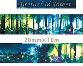 1 Roll of Limited Edition Washi tape: Fireflies in Forrest