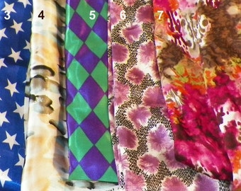 SATIN Pick a Print fabric hair rollers/Soft Hair Rollers/ Hair Curlers/Hair Accessories/Hair Bun Maker