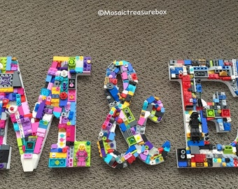 Custom Initials set, wedding letters, toy brick letters, playroom