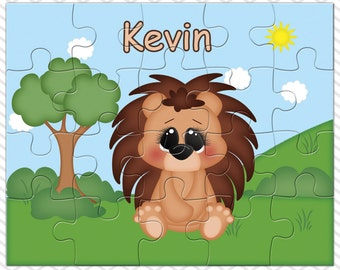 Porcupine Personalized Puzzle, Personalized Porcupine Puzzle, Personalized Kids Puzzle