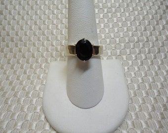 Oval Cut Garnet Ring in Sterling Silver  #1633