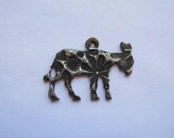 Donkey Burro  Pendant #S3 Solder / Patina