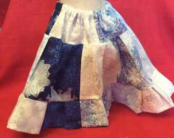 "Snowflake Peasant Skirt for 18"" Doll"