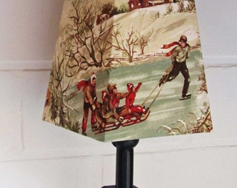 Lamp shade snow fun
