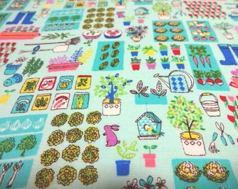 Japanese Fabric Garden Mint  Fat Quarter
