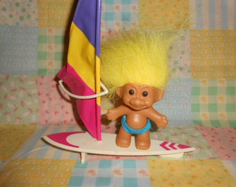 Russ Surfer Troll With His Board-Vintage