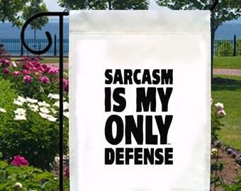Sarcasm Only Defense New Small Garden Yard Flag Decor Gifts Fun Gag Parties
