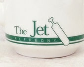 Restaurant China Mug The Jet Diner The Colligate Restaurant Ivory and Green Buffalo China Coffee Cup SUNY NY Alfred University