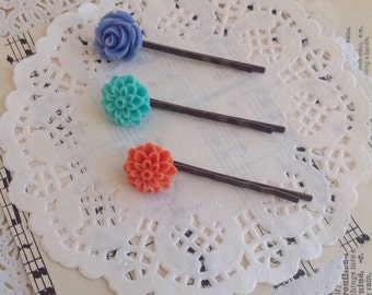 Planner Clips, Flower Bobby Pins, Hair Clips, Planner Accessories, Planner, Hair Accessories, Planner Accessories, Bobby Pins, 024