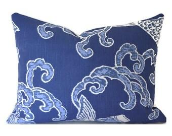 60% SALE Lumbar Pillow Cover Decorative Pillow Cover Designer Pillow Blue Pillow Koi Fish Pisces Aegean