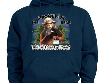Smokeout the bear hoodie weed pot 420 sweatshirt