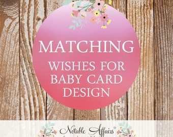 Matching Wishes for Baby Card - Choose your invitation and matching card