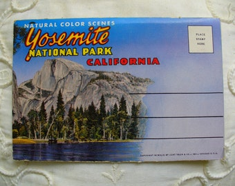 Yosemite National Park Postcard Folder