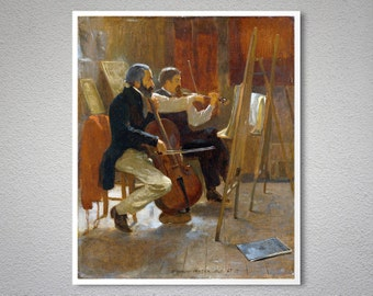The Studio by Winslow Homer  -  Poster Paper, Sticker or Canvas Print