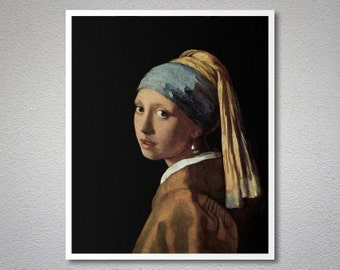 Girl with a Pearl Earring by Johannes Vermeer, 1665 - Poster Paper, Sticker or Canvas Print