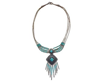 Navajo Turquoise & Sterling Necklace