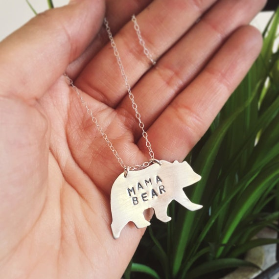 Mama Bear Necklace // Sterling Silver// Dainity Jewelry