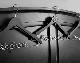 Wedding Dress Hanger, Vintage Inspired, Bling, High Quality, Mrs Hanger, Last Name, Bridal Hanger, Free Shoe Decals