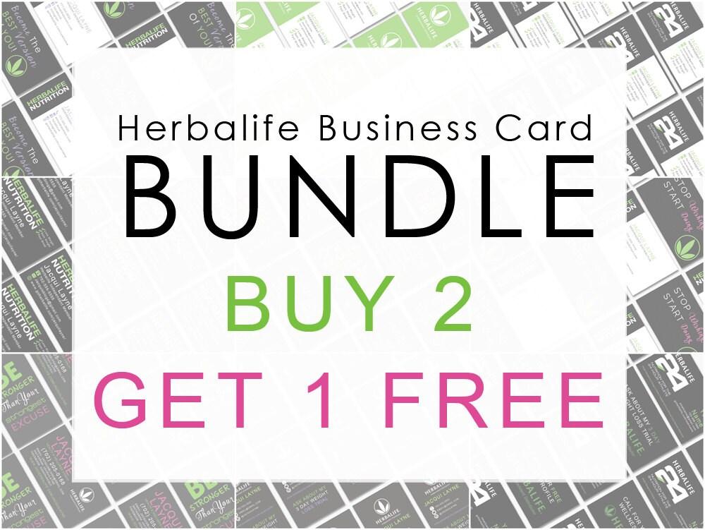 Herbalife Business Card Bundle Buy 2 Get 1 by