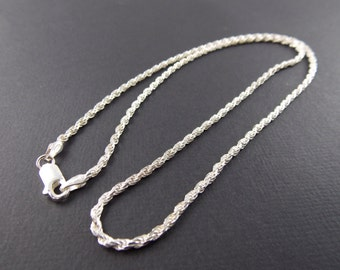 Sterling Silver 2mm Rope Chain