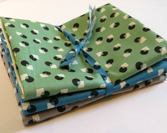 Small Dots and Squares  by Suzuko Koseki for  Yuwa of Japan-  Bundle