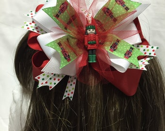 The Nutcracker in Red Head Band or Hair Bow