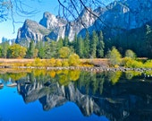Yosemite National Park photo card, Yosemite Valley photo card, Merced River photo card, Nature scene photo, Yosemite