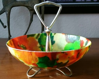 Vintage 1950's 1960's Fiberglass Snack / Nut / Candy Dish Serving Bowl