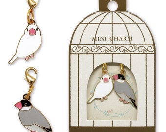 Sets of 2 Java Sparrow Metal Parts Charm