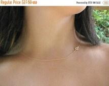 SALE - Star of david gold necklace -Star of david necklace - Thin gold necklace - sideways star of david - Star of David