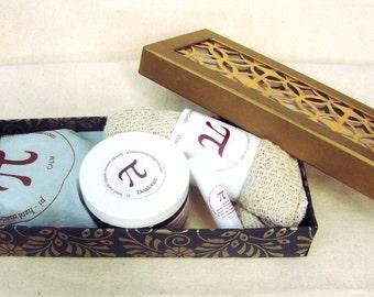 Soap Gift Set,Natural Deodorant, Handmade Soap, Natural Lip Balm, Cotton Washcloth, Gift Idea