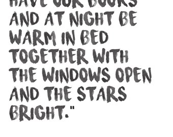 Ernest Hemingway Watercolor Quote Stars Bright Print, A Moveable Feast