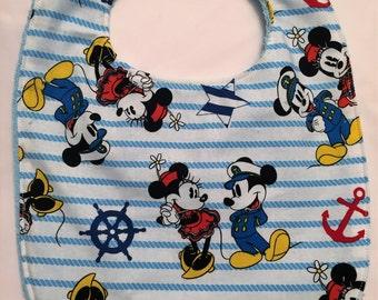 Mickey/Minnie Mouse Bib