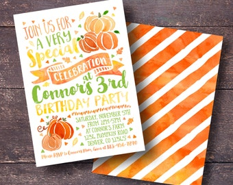Pumpkin Invitation, Fall Invitation, Boy Pumpkin Invitation, Cute Pumpkin Invitation, Autumn Invitation, Boy Fall Invitation, Pumpkin Invite