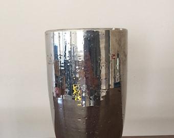 Bitossi Silver Luster Vase