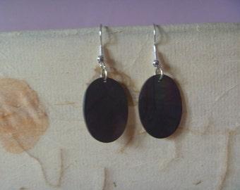 shimmery dangle earrings, multicolored ecofriendly earrings
